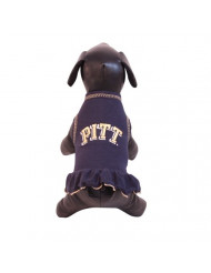 NCAA Pittsburgh Panthers Cheerleader Dog Dress (Team Color, XX-Large)