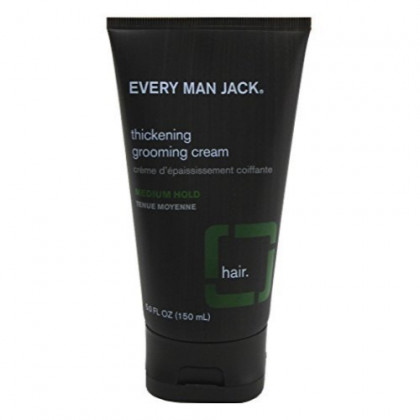 Every Man Jack Thickening Grooming Cream Medium Hold 5 Ounce (145ml) (2 Pack)