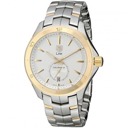 Tag Heuer Men's WAT2150.BB0953 Link Calibre S Silver Dial Dress Watch