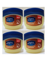 Vaseline Rich Conditioning Petroleum Jelly, Cocoa Butter, 3.4 Ounce / 100 Ml (Pack of 4)