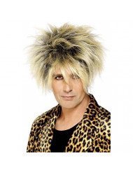 Smiffys Men's Wild Boy Wig Short and Highlighted, Blonde, One Size