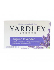 Yardley London Moisturizing Bar English Lavender with Essential Oils 4.25 oz