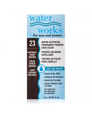Water Works Water Activated Permanent Powder Hair Color for Men and Women, 23 Natural Dark Brown