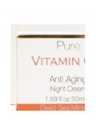 Pure Vitamin C+ AntiAging Night Cream, 50 ml (All Skin Types)./ Dead Sea Minerals by Spa Cosmetics LTD (made in...