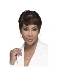 Vivica A. Fox H302-V Premium Human Hair, PS Cap Wig in Color 34