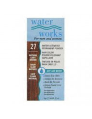 Water Works Permanent Powder Hair Color - #27 Natural Light Brown 0.2 oz. (Pack of 2)