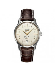 Longines Heritage Flagship Silver Dial Brown Leather Mens Watch L47954782