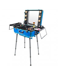 SHANY Studio To Go Makeup Case with Light Pro Makeup Station, Dream of A Blue Genie