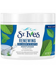 St Ives Renewing Collagen and Elastin Moisturizer, 10 Ounces (Pack of 3) (Packaging May Vary)
