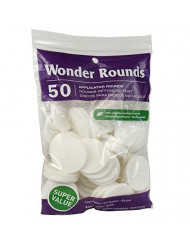 Wonder Rounds 50 Count Cosmetic Puff (2 Pack)