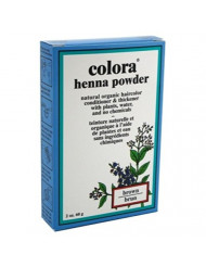 Colora Henna Powder Hair Color Brown 2 Ounce (59ml) (2 Pack)