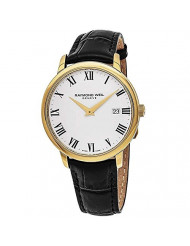Raymond Weil White Dial Stainless Steel Leather Quartz Men's Watch 5488-PC-00300