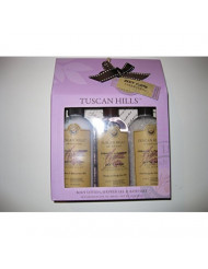 Tuscan Hills French Lavender Body Care Collection Gift Set - Lotion, Body Wash Bath Salt