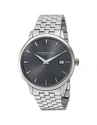 Raymond Weil 'Toccata' Swiss Quartz and Stainless Steel Casual Watch, Color:Silver-Toned (Model: 5488-ST-60001)