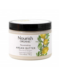 Nourish Organic Rejuvenating Body Butter, Argan Butter, Fair Trade, 5.2 Ounce