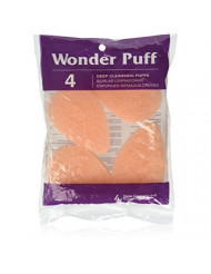 Wonder Wedges Wonder Cleansing Puff, 4 Count by Wonder Products