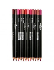 Italia Deluxe Ultra Fine Lip Liner set (Pack Of 12)