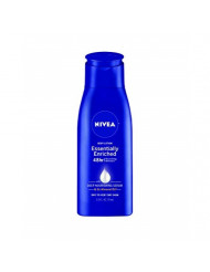 NIVEA Essentially Enriched Body Lotion - 48 Hour Moisture For Dry to Very Dry Skin - 2.5 fl. oz. Bottle