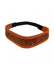 Orange Suede Snakeskin Headwrap 1.5 inch Headband Hair Band for Women & Girls