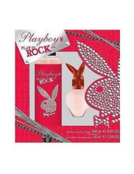 Playboy Play It Rock Body Spray and Eau de Toilette Spray Two Piece Gift Set