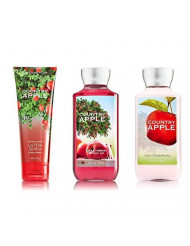 Bath & Body Works Country Apple Body Cream, Lotion, Shower Gel Set