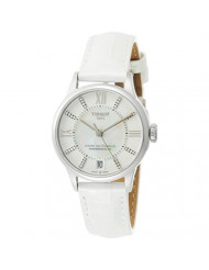 Tissot Mother of Pearl Dial Leather Strap Ladies Watch T0992071611600