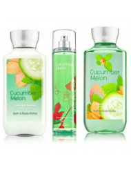 Bath & Body Works Cucumber Melon Gift Set, Body Lotion 8 Fl Oz, Shower Gel 10 Fl Oz, & Find Fragrance Mist 8 Fl Oz