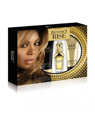 Beyonce Rise 3 Piece Gift Set (1.0 Ounce Eau De Parfum Plus 2.5 Ounce Shower Gel Plus 2.5 Ounce Body Lotion)