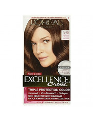 L'Oreal Excellence Creme - 5AR Velvet Brown (Medium Maple Brown) 1 Each (Pack of 6)