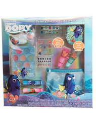 Disney Pixar Finding Dory Beauty Kit with Lip Gloss and Balm, Press-On Nails, Files and Stickers