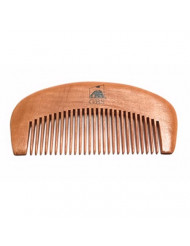 GBS Beard Comb Natural Wooden Durable Handle Bamboo All Fine Teeth. Works Great for Balm Oil Wax Leave-in Conditioner. Anti-Static Pocket Comb Perfect for On-the-go! Provides Beard Growth and Health