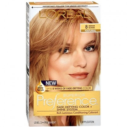 L'Oreal Superior Preference - 8 Medium Blonde (Natural) 1 Each (Pack of 2)