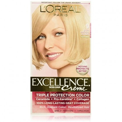 L'Oreal Paris Excellence Creme Haircolor, Light Natural Blonde [9] 1 ea (Pack of 5)