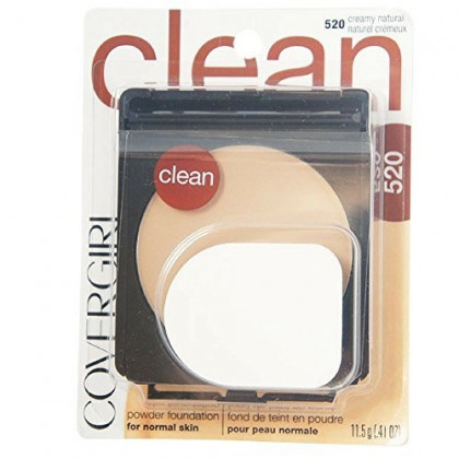 CoverGirl Simply Powder Foundation, Creamy Natural [520] 0.41 oz (Pack of 3)