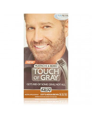 JUST FOR MEN Touch of Gray Hair Color, Mustache & Beard Kit, Light & Medium Brown B-25/35, 1 ea ( Pack of 3)