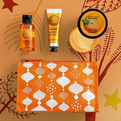 The Body Shop Satsuma Beauty Bag, Gift Set