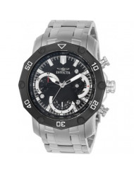 Invicta Men's Pro Diver Quartz Watch with Stainless-Steel Strap, Silver, 26 (Model: 22760)