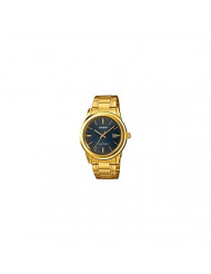 Casio MTP-VS01G-2A Men's Solar Gold Tone Stainless Steel Blue Dial Date Watch