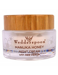 Wedderspoon Manuka Honey Night Cream with Bee Venom, 1.7 Ounce
