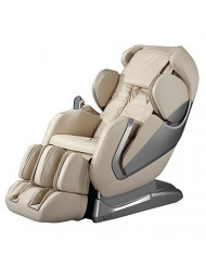 Titan Pro- Alpha Full Body Massage Chair, New Arm Design, L-Track Roller Design for Under Buttocks, Space Saving Feature, Zero Gravity Position, Foot Rollers (Beige)