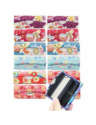 Set of 12 ~ Cute Japanese Flower Style Lipstick Case Holder w a Little Mirror Christmas Gift P22635 ~ We Pay Your Sales Tax