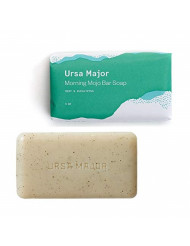 Ursa Major Natural Bar Soap | Morning Mojo Bar Soap | Exfoliating Soap with Peppermint, Eucalyptus and Rosemary | Formulated for Men and Women | 5 ounces