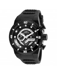 Invicta Men's S1 Rally Stainless Steel Quartz Watch with Silicone Strap, Black, 30 (Model: 24228)