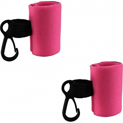 Kage 2 Clip-On Neoprene Pink Sleeve Lip Balm Holsters Lipstick Holder Key Chain