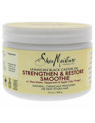 Shea Moisture Jamaican Black Castor Oil Strengthen & Restore Smoothie Cream for Unisex, 12 Ounce