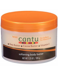 Cantu Softening Body Butter Lotion, 7.25 oz (Pack of 4)