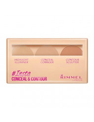 Rimmel Insta Flawless Insta Conceal and Contour Palette, Light, 0.25 Ounce