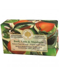 Wavertree and London Basil Lime and Mandarin Australian Natural Luxury Soap Bar 7 Ounces (2 Bars)
