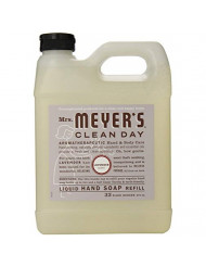Mrs. Meyer's Clean Day Liquid Hand Soap Refill, 33 oz (Lavender, Pack - 3)
