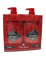 Old Spice Swagger Body Wash - Red Zone, Value Pack of 2-30 Ounce Bottles (Total 60 Ounce)